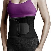 Waist Trimmer, Exercise Trainer Belt for Men & Women,Adjustable Wide Waist and Back Support Stomach Fat Burner Weight Loss Ab Belt Sweat Enhancer AB Belt Non-Slip for Sauna Gym Workout
