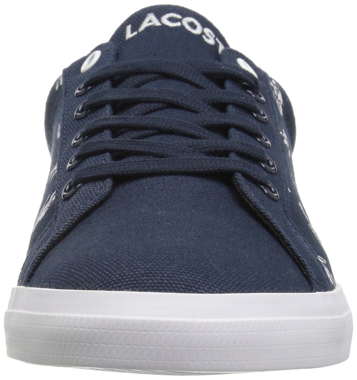 Lacoste Kids' Lerond Sneakers,Navy/White cotton canvas,5 M US Big Kid by Lacoste (Image #4)