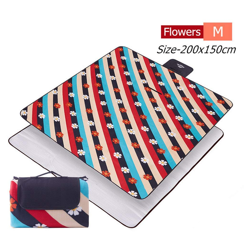 C Medium XUANLAN Lightweight Extra Large Waterproof Compact Picnic Rug Foldable Beach Mat Plaid Picnic Blanket with Waterproof Backing (color   A, Size   M)