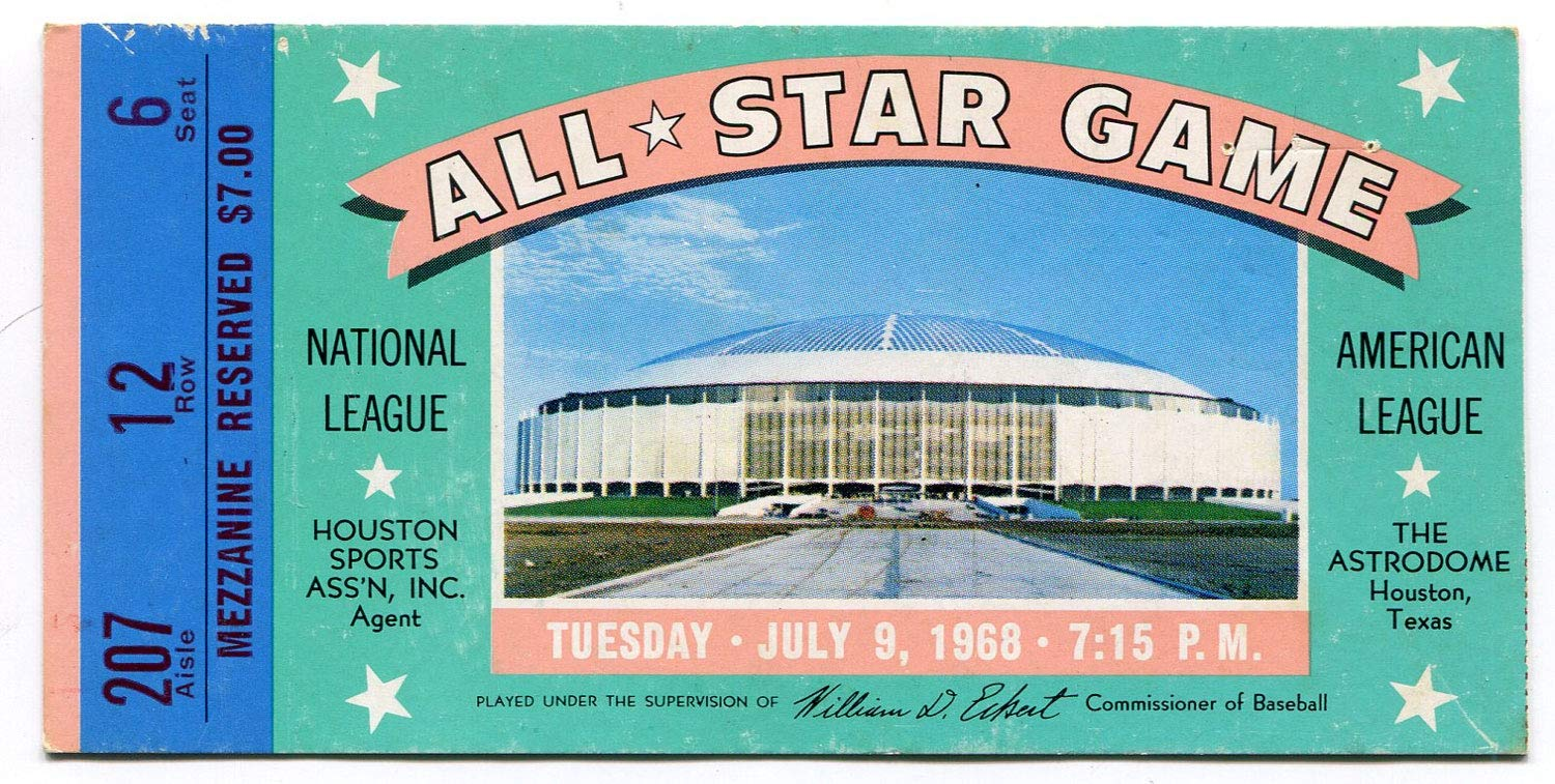 1968 All Star Game Ticket