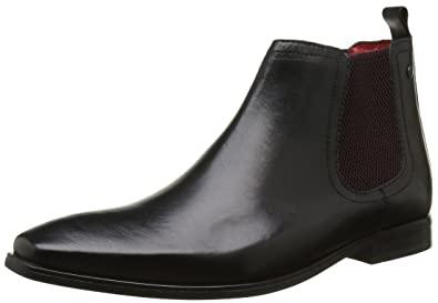 Base London William, Bottes Chelsea Hommes, Noir (Waxy Black), 44 EU