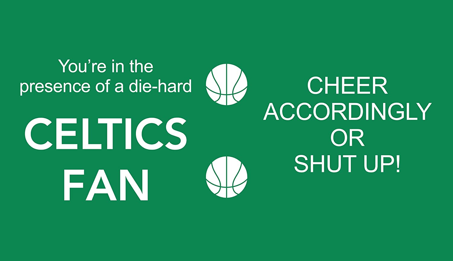 Tree-Free Greetings sg24141 Celtics Basketball Fan Sip N Go Stainless Steel Lined Travel Tumbler 16-Ounce Tree Free