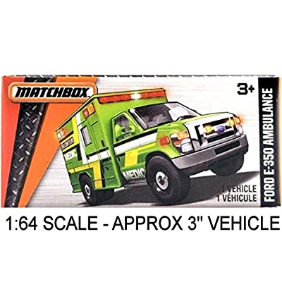 Matchbox Power Grabs 2016 MBX Heroic Rescue Ford E-350 Ambulance Medic Green: Toys & Games