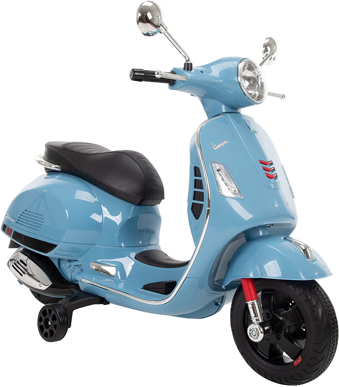 Huffy Kids Battery 6V Ride-On Vespa Scooter Blue