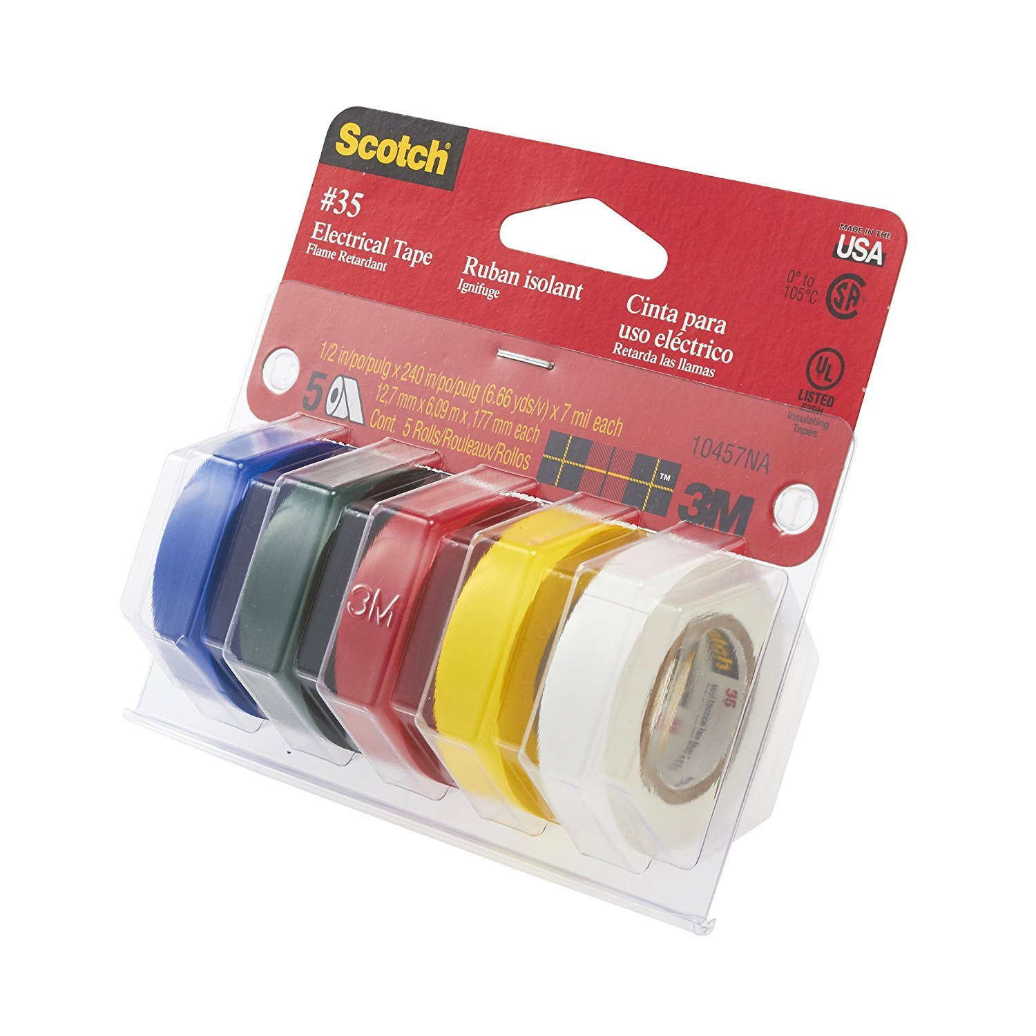 3M Scotch #35 Electrical Tape Value Pack VFP4B , 2-PACK