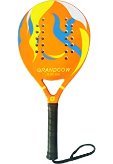 GRANDCOW Beach Paddle/Padel Tennis Racket Carbon Fiber Surface 30mm Depth EVA Memory Foam Core