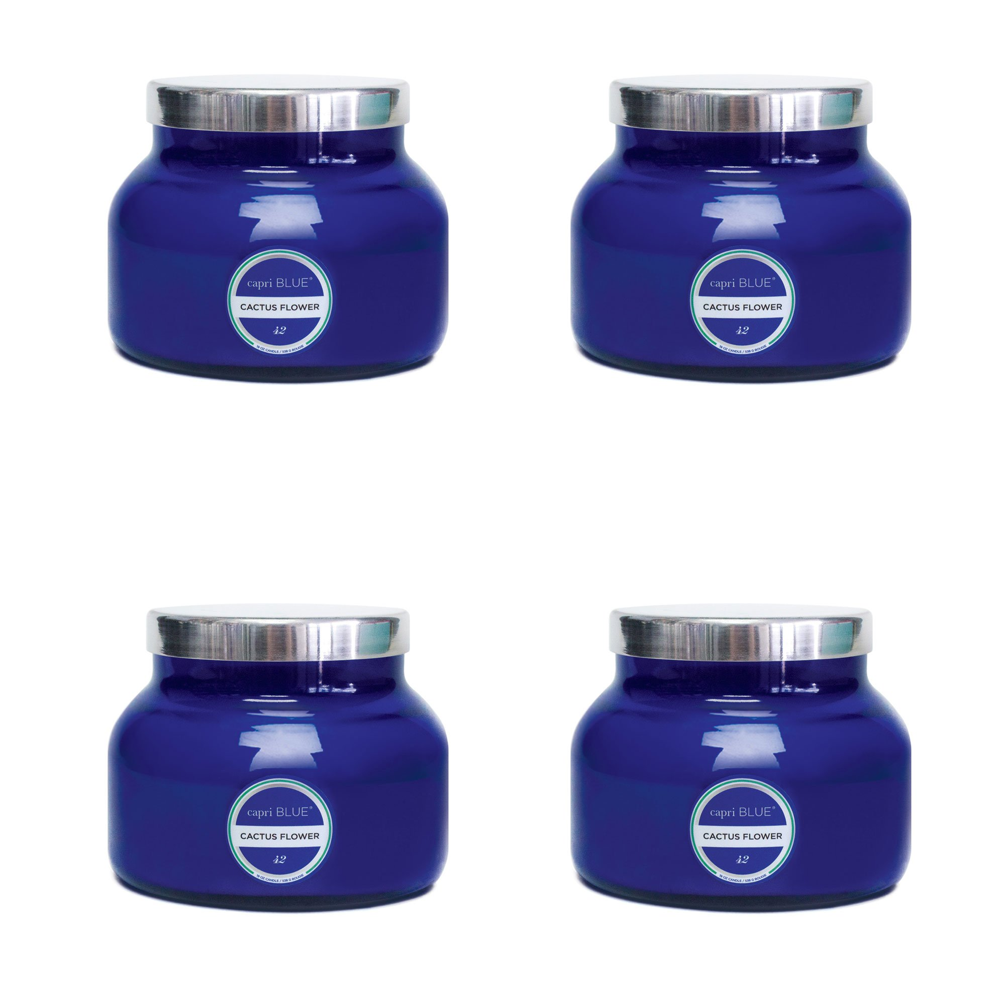Capri Blue 19 oz Signiture Jar Cactus Flower (4pk), Assorted, One Size