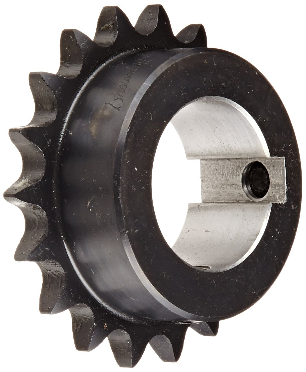 Browning H4018X 1 7/16 Finished Bore Roller Chain Sprocket, Single Strand, Steel, Hardened Teeth, 18 Teeth Regal