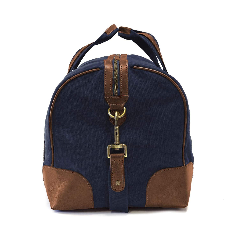 Cuir de Buffle Brun fonc/é Aventure Toile Canvas DRAKENSBERG Kimberley Duffel Bag Bagage /à Main exp/édition Sac de Voyage Vintage Sac Marin Gris Artisanat