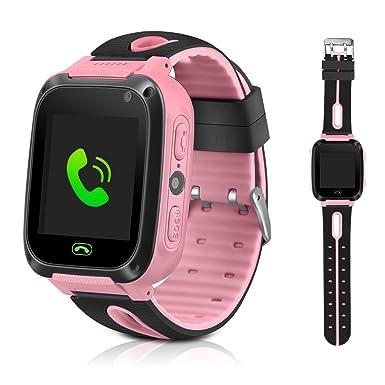 DUIWOIM - Reloj inteligente GPS para niños, con función de lintern de la cámara,