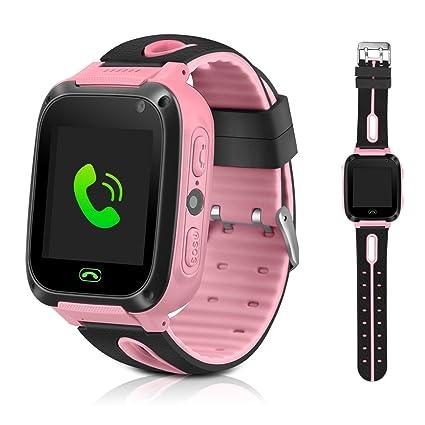 Montre connectée enfants GPS tracker pour enfants, filles, garçons, cadeaux de Noël, anniversaire avec fonction lampe de poche et appareil photo: Amazon.fr: ...