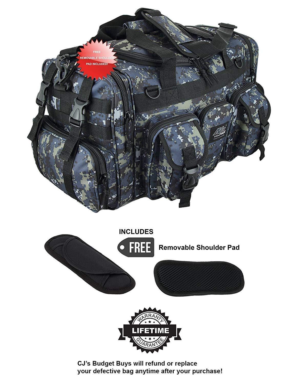 NPUSA ダッフルミリタリーMOLLEタクティカルギア肩ストラップ旅行バッグ メンズ Lサイズ 22インチ ACU Navy Digital Camo With Removable Shoulder Pad