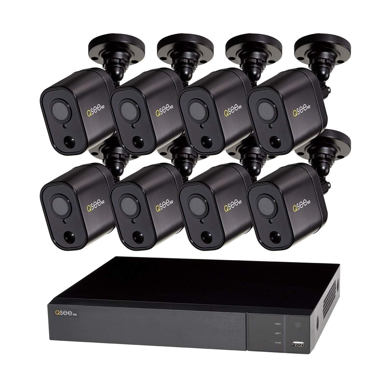 Q-See QTH98-8GD-2 8 Channel 1080p 2TB HDD PIR DVR Digital Video Recorder CCTV Security System w 8x PIR 1080p Cameras by DPSI