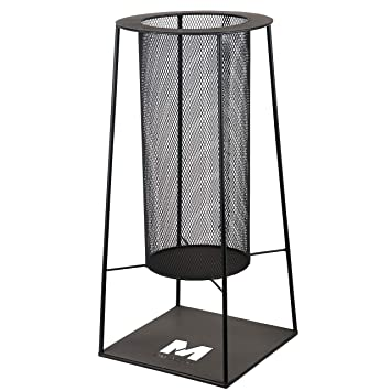 RM Diseño Brasero de Metal en Negro 34 cm/Chimenea como Hoguera o Cesta para