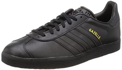 adidas Gazelle, Baskets Basses Homme, Noir (Core Black/Core Black/Gold