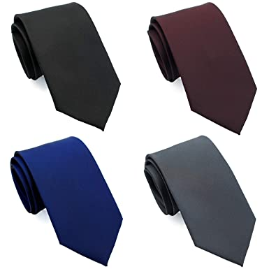 f21ea85ac3a7 Extra Long Ties for Big & Tall Men, 63 Long XL NeckTies 4-pack Solid ...