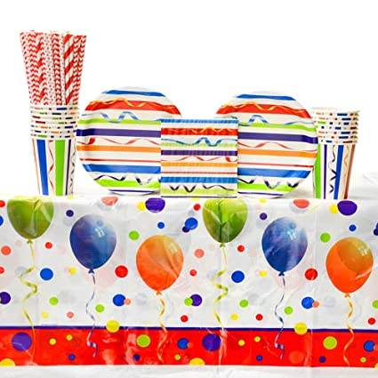 Amazon.com: Feliz Cumpleaños Birthday Party Supplies Pack ...