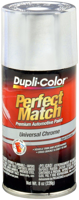 Dupli-Color EBUN02007-6 PK Universal Chrome Perfect Match Automotive Paint - 8 oz. Aerosol, (Case of 6)