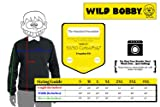 Wild Bobby Gang Logo Parody | Mens Fashion Crewneck Graphic Sweatshirt, Vintage Heather Blue, X-Large