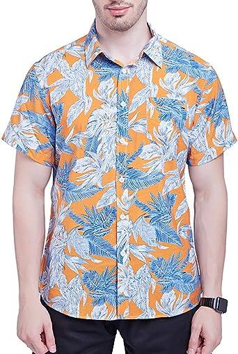 Nuevos Mangas Camisas Hawaianas Hombre De Playa Viento ImpresióN ...