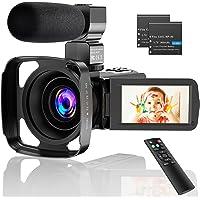 CamVeo 2.7K Video Camera Camcorder, Vlogging Camera met 16X krachtige zoom en 36 Mega pixels IR Nachtzicht Digitaal…