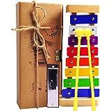 happyfishes 木琴和明亮多色钥匙儿童*木制 mallets 和音乐卡片儿童