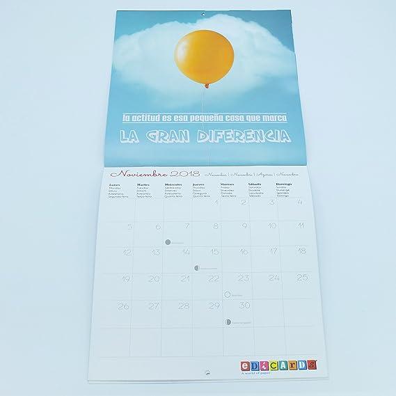 21x21 Cm Calendario De Pared Frases En Español 2019 Marca