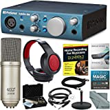 PreSonus AudioBox iOne 2x2 USB/iPad Recording System and Deluxe Bundle with Professional Condenser Microphone + Home Recording for Dummies + More