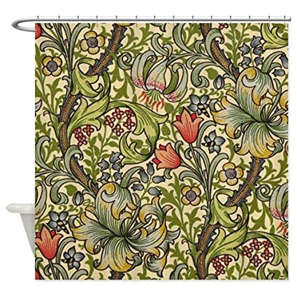 CafePress William Morris Golden Lily Pattern Decorative Fabric Shower Curtain 69quot