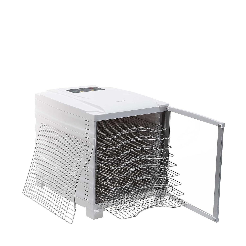 timer digitale di 24 ore con vassoi in acciaio inosssidabile porta trasparente e 3 anni di garanzia Essiccatore BioChef Arizona a 10 ripiani