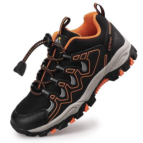 timeless design 0c416 717a0 UOVO Turnschuhe Jungen Wanderschuhe Sneakers Kinder Trekking Schuhe Outdoor  Sportschuhe Laufschuhe Schwarz