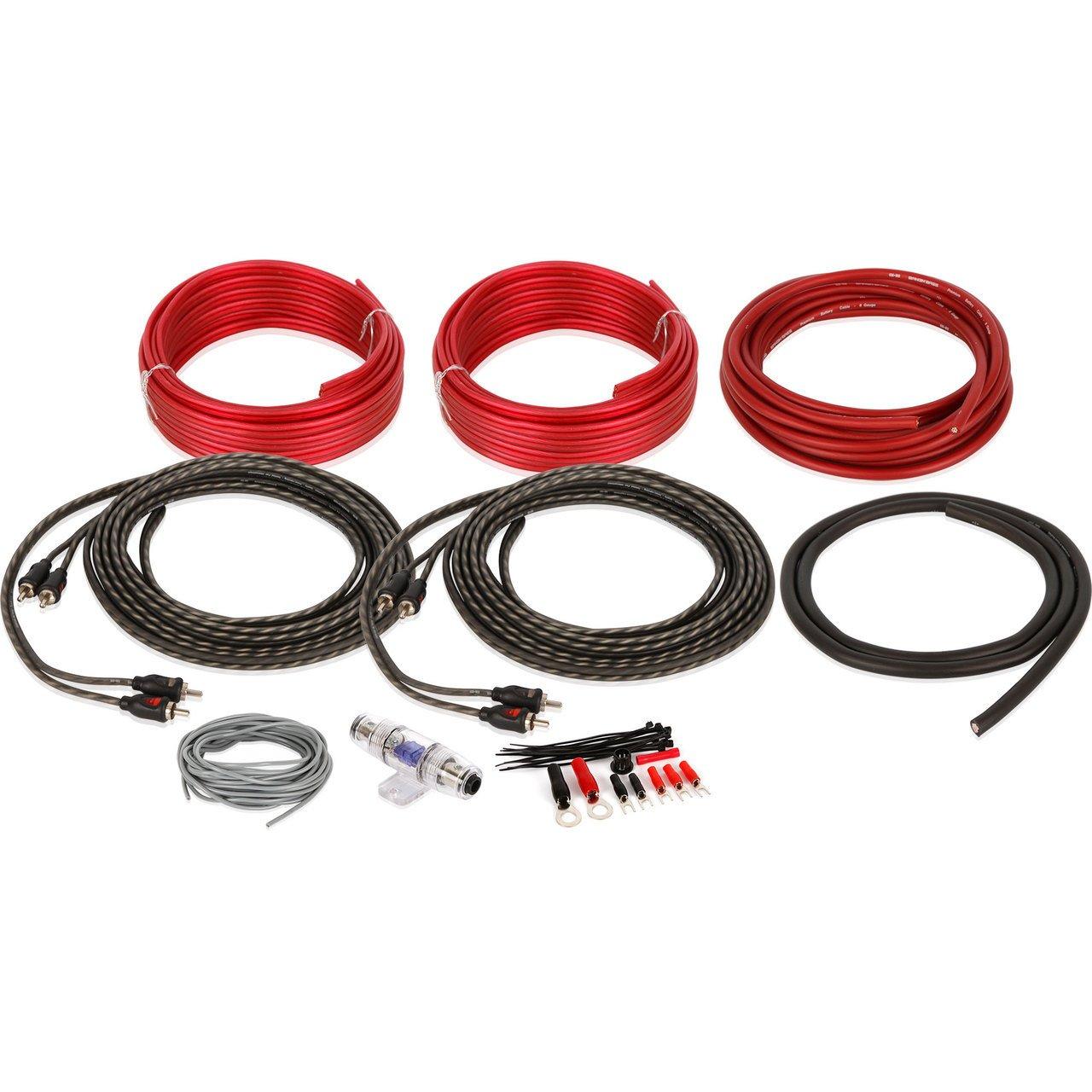 Professional Grade Belva Complete True Spec 8 Gauge 4 Ga Awg Amplifier Amp Wiring Wire Kit Installation Channel Bak84 Automotive