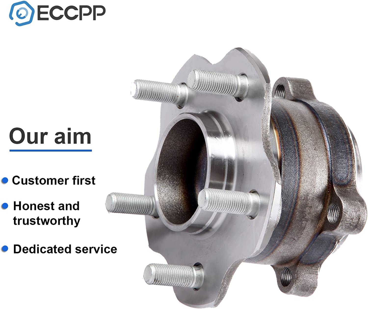 ECCPP Replacement for Pair of 2 New Complete Rear Wheel Hub Bearing Assembly 5 Lugs W//ABS for 2014-2016 Infiniti Nissan 512388x2