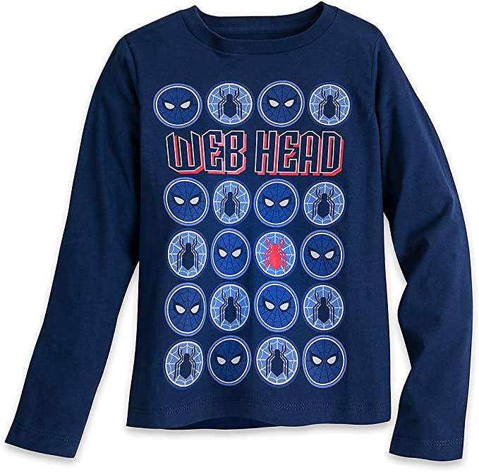 Marvel Spiderman Boys Long Sleeve Light Blue T-Shirt Age 8 Years
