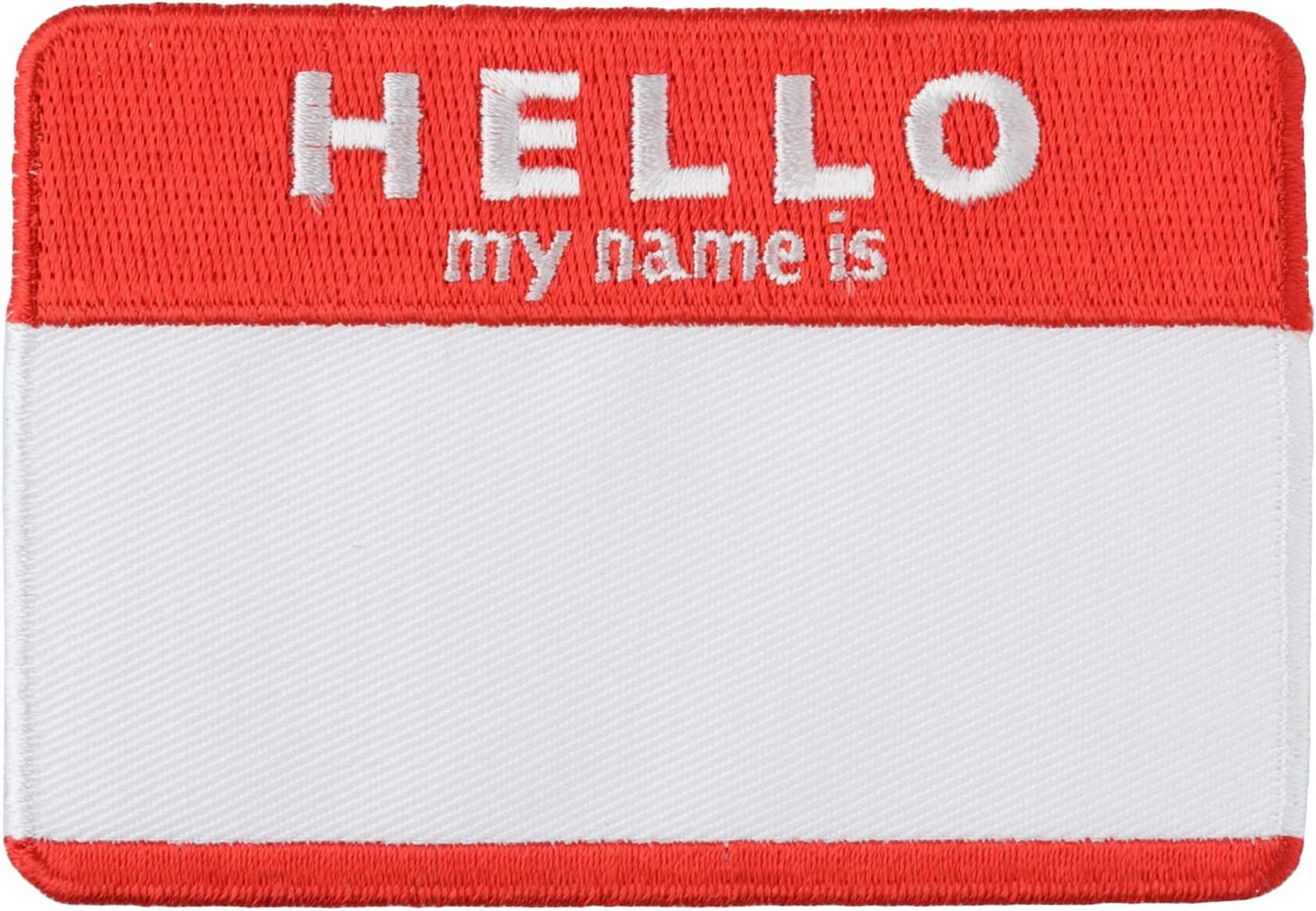 Simplicity 1938867001JA Hello Name Tag Applique Clothing Iron On Patch 2.5 x 3.6