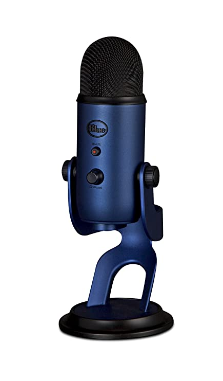 amazon com blue yeti usb microphone midnight blue musical