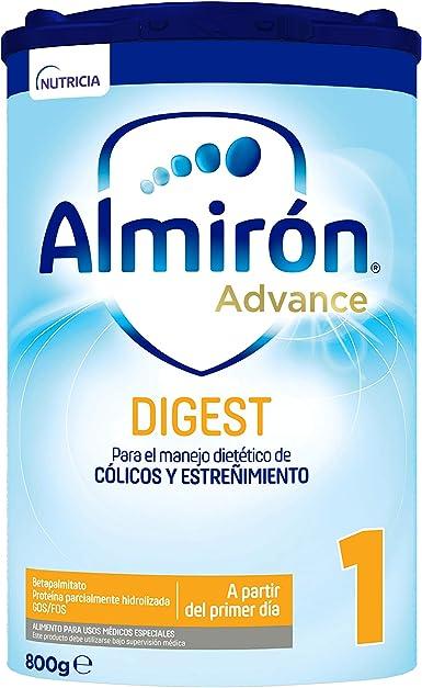 Almirón Advance Digest 1 Leche de Fórmula AntiColico y AntiEstreñimiento A Partir Del Primer Día, 800g
