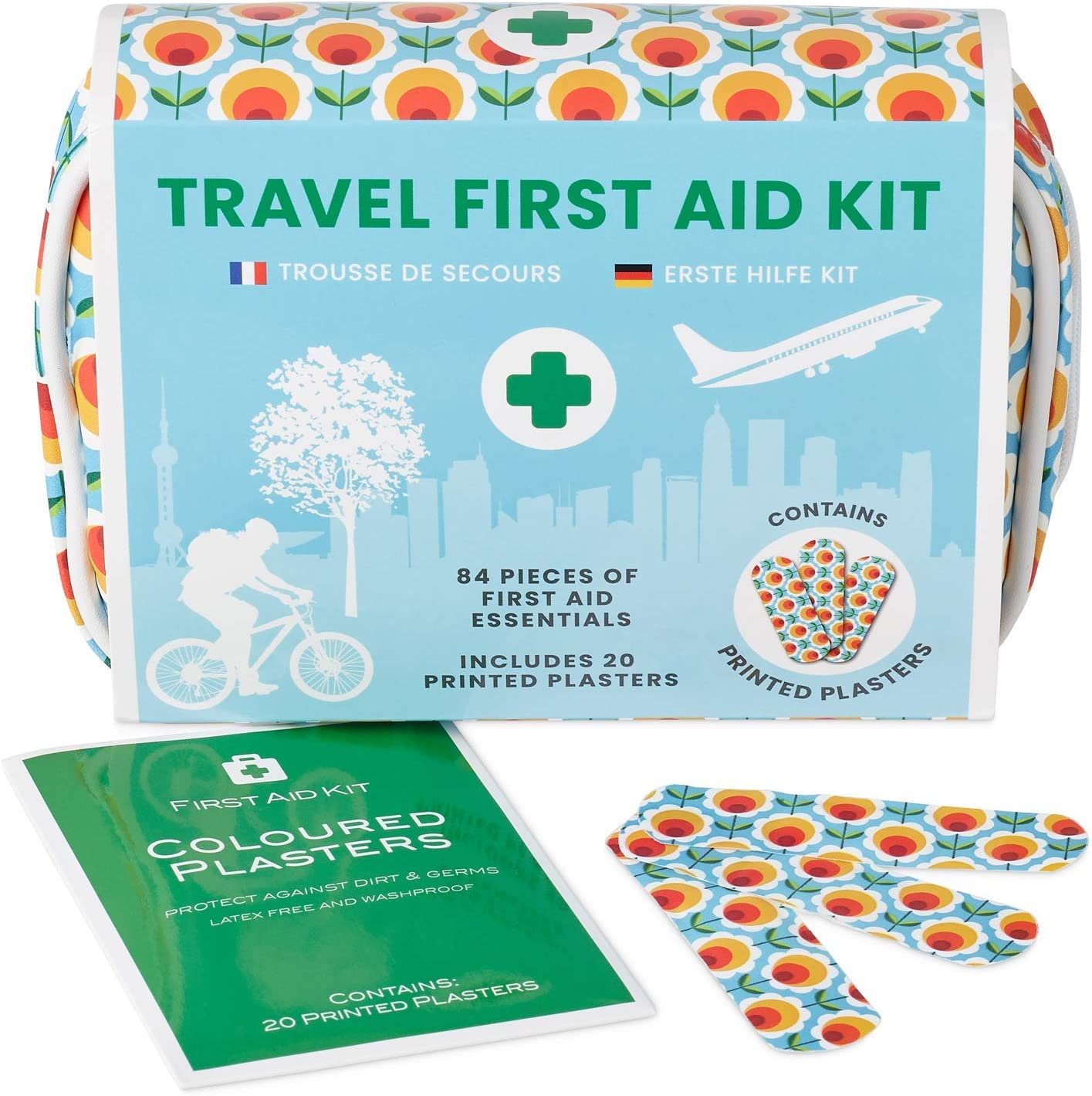 Kit De Primeros Auxilios Para Viajes Mini-Viaje. Incluye Tijeras, Gel de Quemaduras, yeso Impermeable, Guantes Médicos, Toallitas Antisépticas y Cinta Quirúrgica. Para el Hogar 100% Vegano