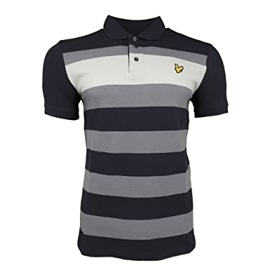 Lyle and Scott Vintage Texturados Rayas Camisa De Polo: Amazon.es ...