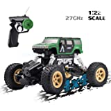 Vanzer 1:22 Scale Mini Military RC Off-Road Car Toy Car,4WD Racing Remote Control Car, Rechargeable Hobby Crawlers…