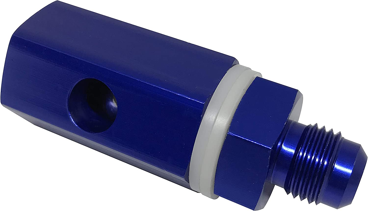 6AN Rollover Valve Aluminum Fuel Cell Tank Mounted Hose Line Fitting AN6 Tip Over Valves Blue Anodized