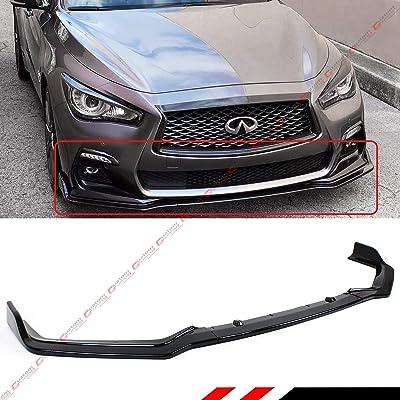 Fits for 2020-2020 Infiniti Q50 Sport Model 3 Pieces Style Glossy Black Front Bumper Lip Spoiler Splitter: Automotive