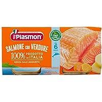 Plasmon Alimento per l'Infanzia Oasi nella Crescita con Salmone e Verdure - 2 vasetti da 80 gr