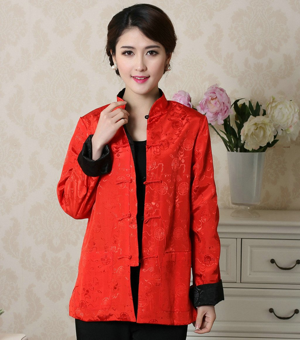 Womens Tang Suits Womens Leisurewear Double-sided Wear Spring and Autumn Womens Clothes Long sleeved Coat Chinese Jackets by Womens Tang Suit (Image #4)