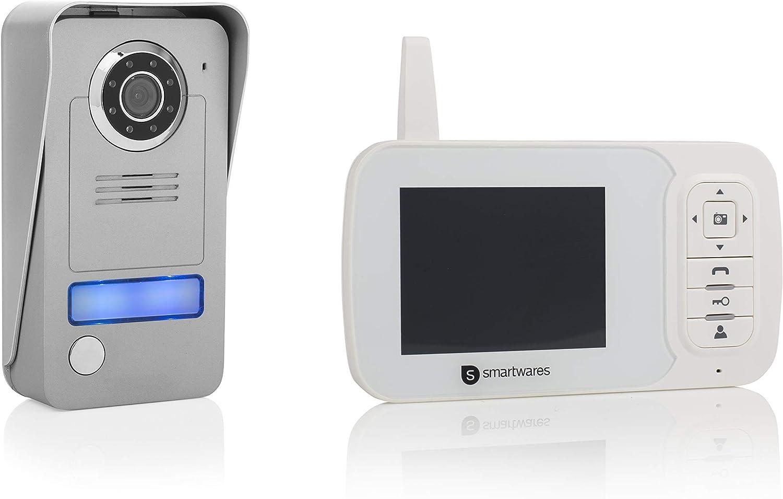Smartwares VD38W. Video portero inalámbrico con monitor portátil de 3,5 pulgadas