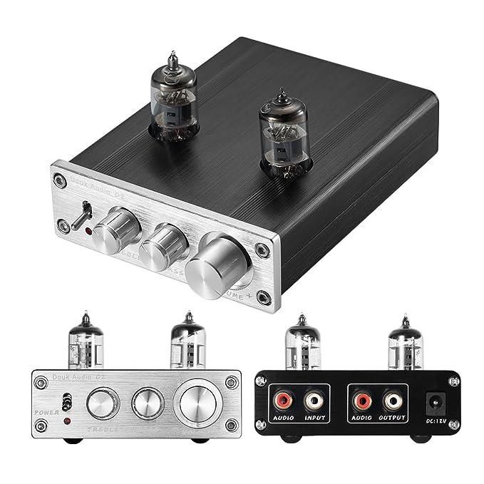 nobsound HiFi 6j1 vacío Tubo preamplificador estéreo preamplificador Digital Agudos & Bass Tone Control (Plata)