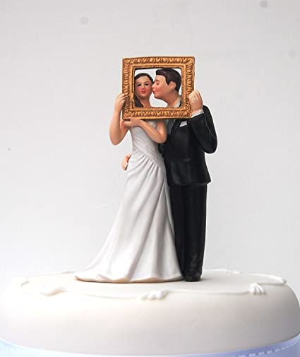 Cutest Wedding Cake Toppers.Picture Perect Humorous Cake Topper For Wedding Celebrations