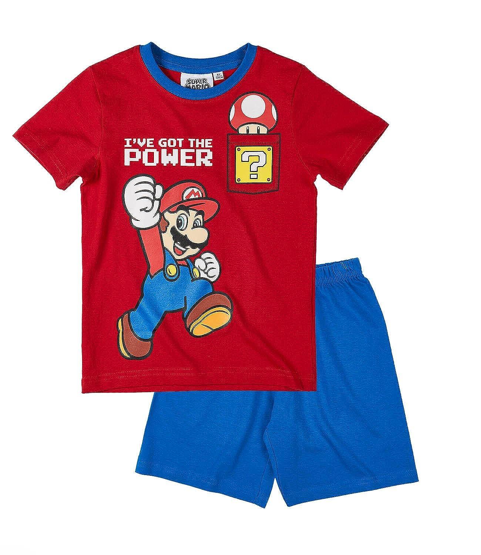 Super Mario Boys Short Sleeved Pyjama Set