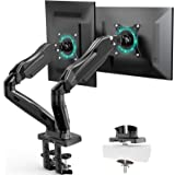 Dual Monitor Mount Stand, Monitor Arms for 2 Monitors, Height Adjustable/Tilt/Swivel/Rotation Gas Spring Monitor Arm for Scre