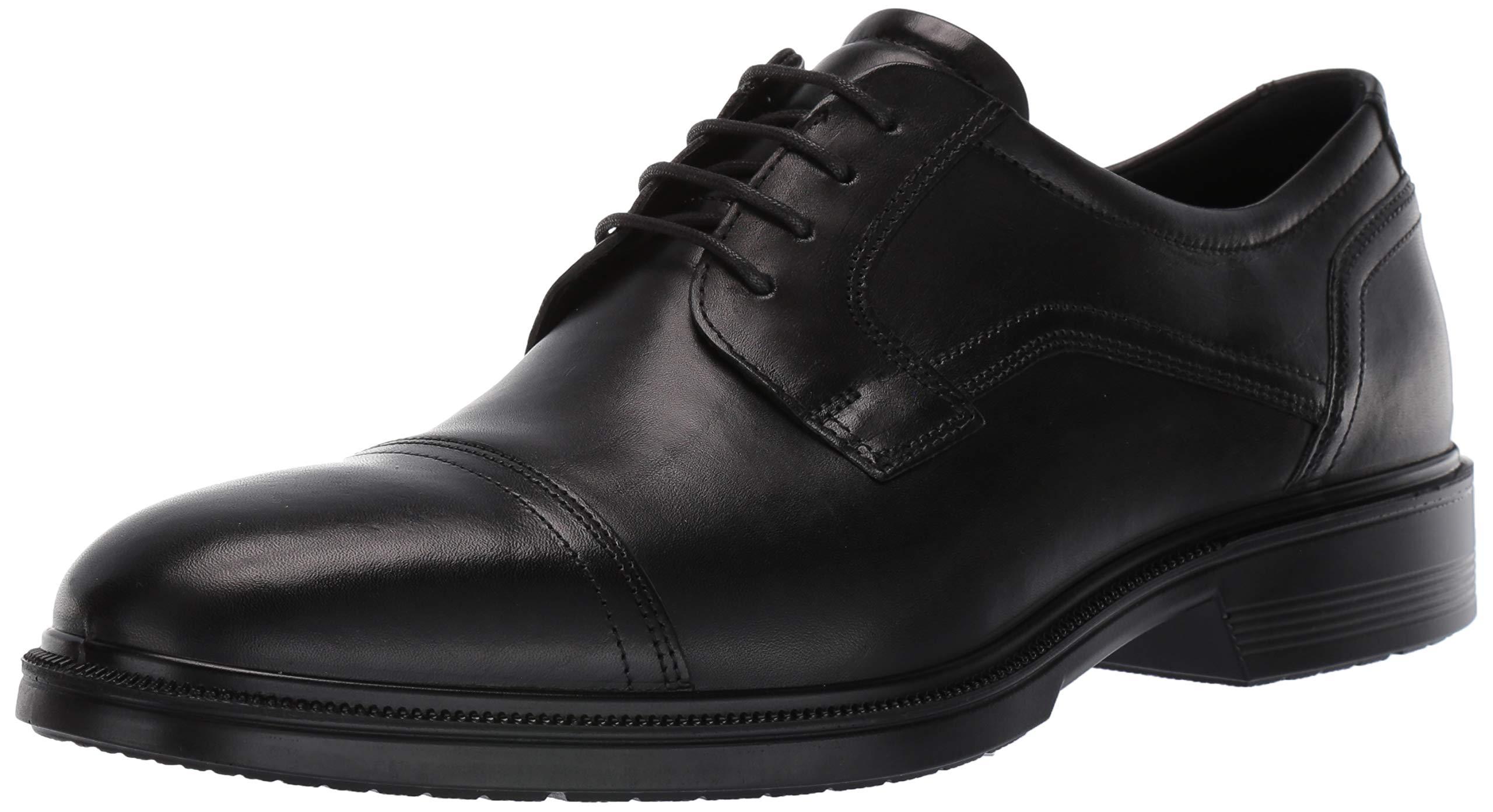ECCO Men's Lisbon Cap Toe Tie Oxford, Black, 48 EU/14-14.5 M US by ECCO (Image #1)